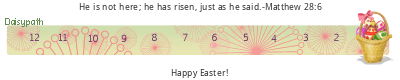Daisypath Easter gifts tickers